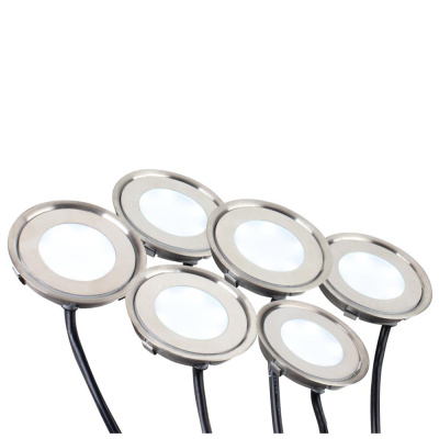 Набор KT-R-6x0.5W LED Day White 12V (круг)